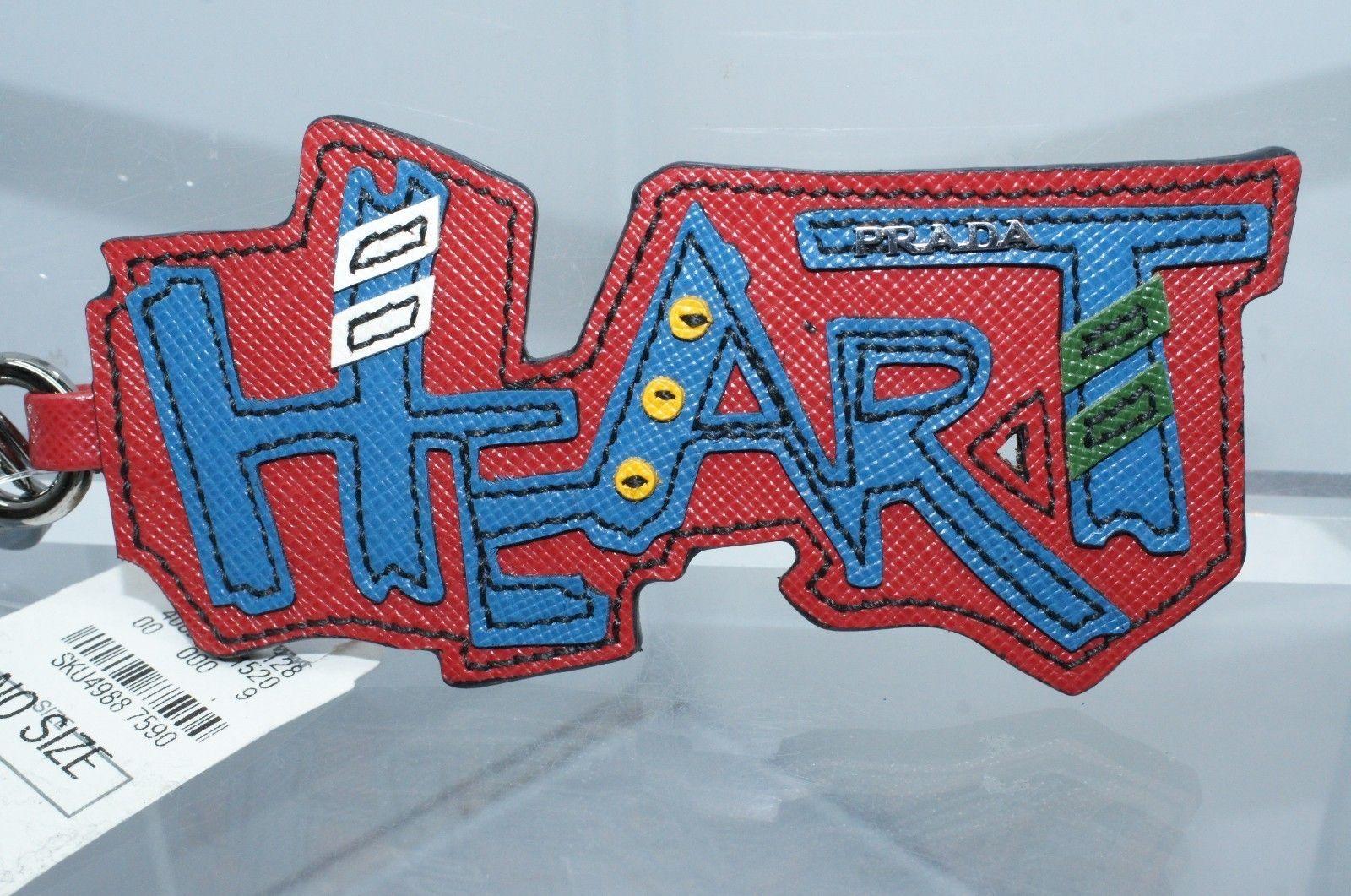 Prada heart key chain