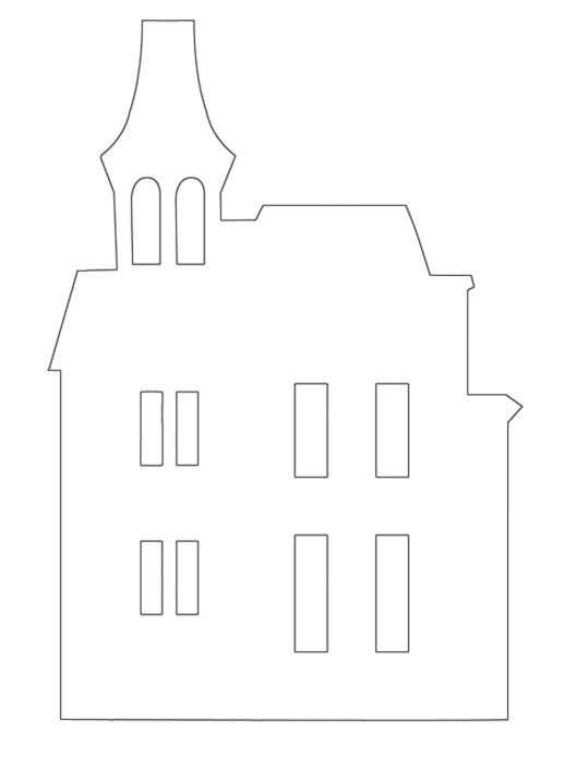 Spooky House Template Haunted House Template Printable haunted
