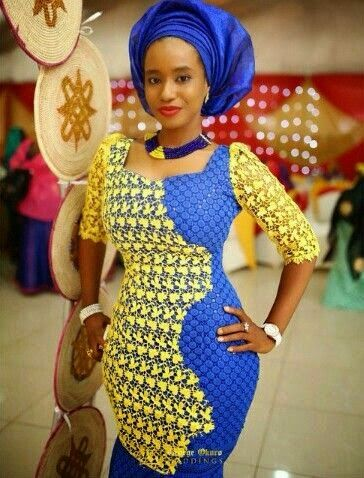 blue african wedding dress - Google Search