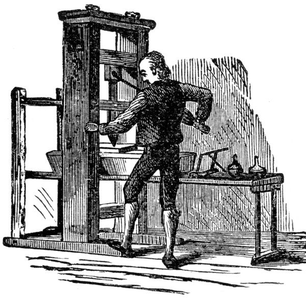 Annies Home Printing Press Arrived In America September 1638 Over