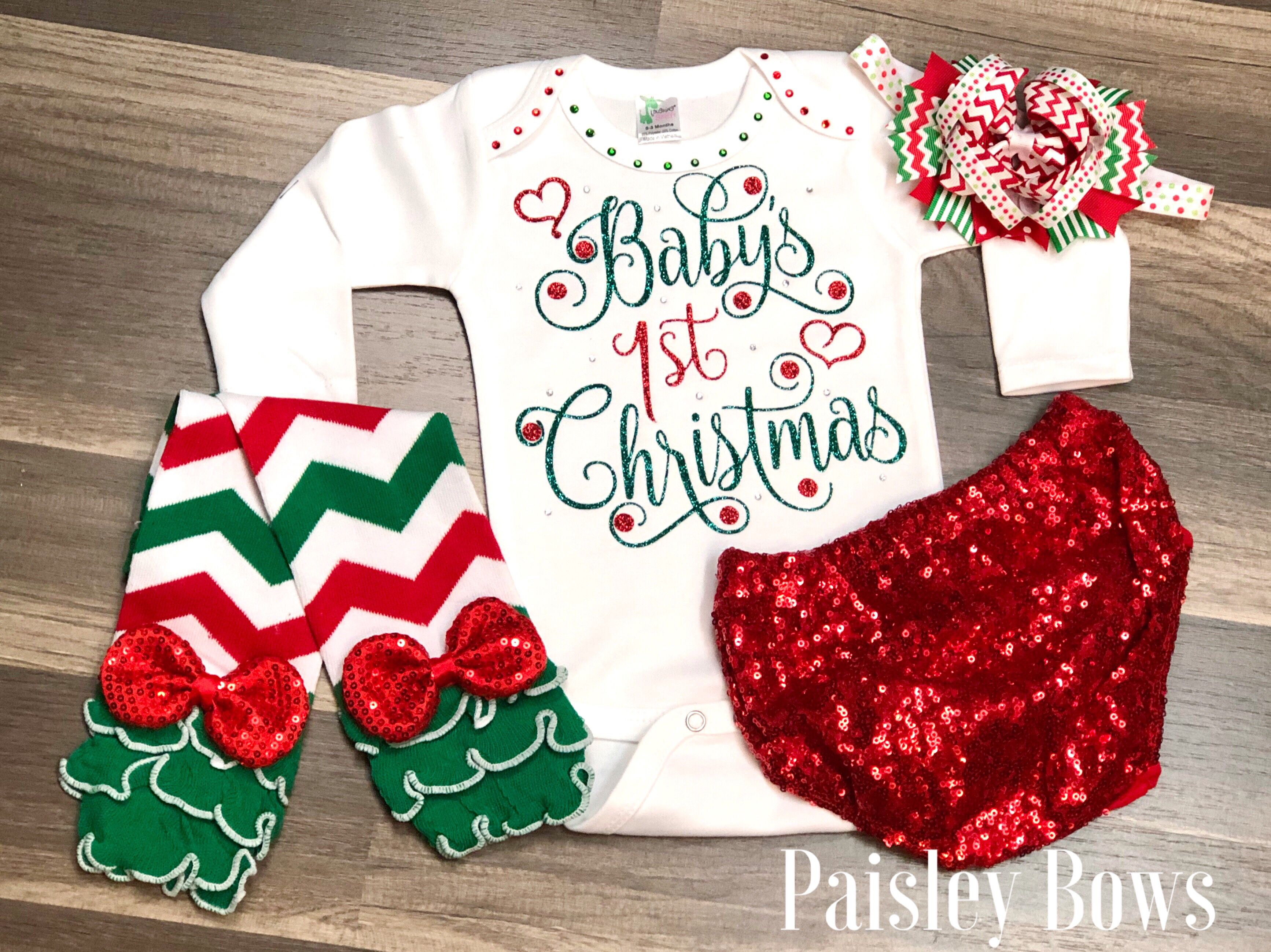 #firstchristmas #baby #babygirl #babyfashion #babyoutfit #babyclothes #christmas #newborn