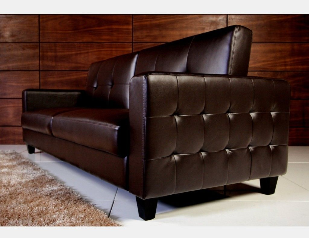tufted faux leather sofa bed brown  faux leather sofa