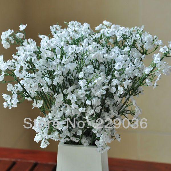 Aliexpress Com Buy Free Shipping 20pcs Artificial Silk White Baby Breath Flowers Fake Gypsoph Bridal Bouquet Flowers Flower Bouquet Wedding Gypsophila Flower