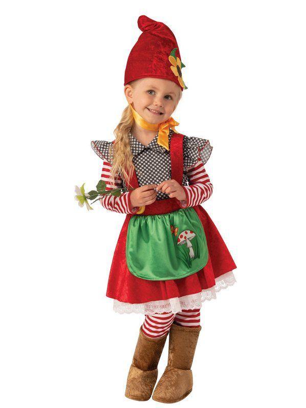 Garden Gnome Girl Costume for Kids #gnomecostume