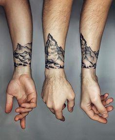 Little Mountain Range Cuff Tattoo Pinterest Tatouage Tatouage