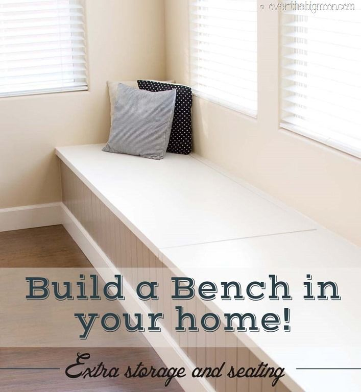 Diy Kitchen Bench With Storage: DIY Storage And Seating Bench!