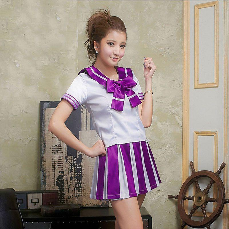 5 Color Cheerleader Costume Japanese School Uniform Sailor Top