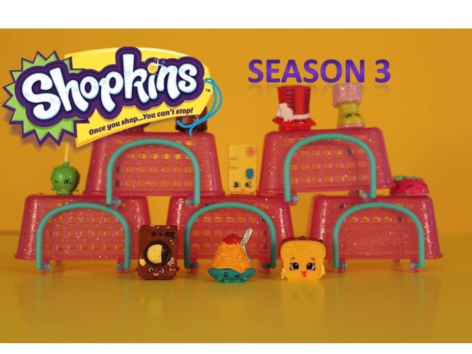 Шопкинс корзинки 3 сезон сюрпризы с игрушками распаковка ...