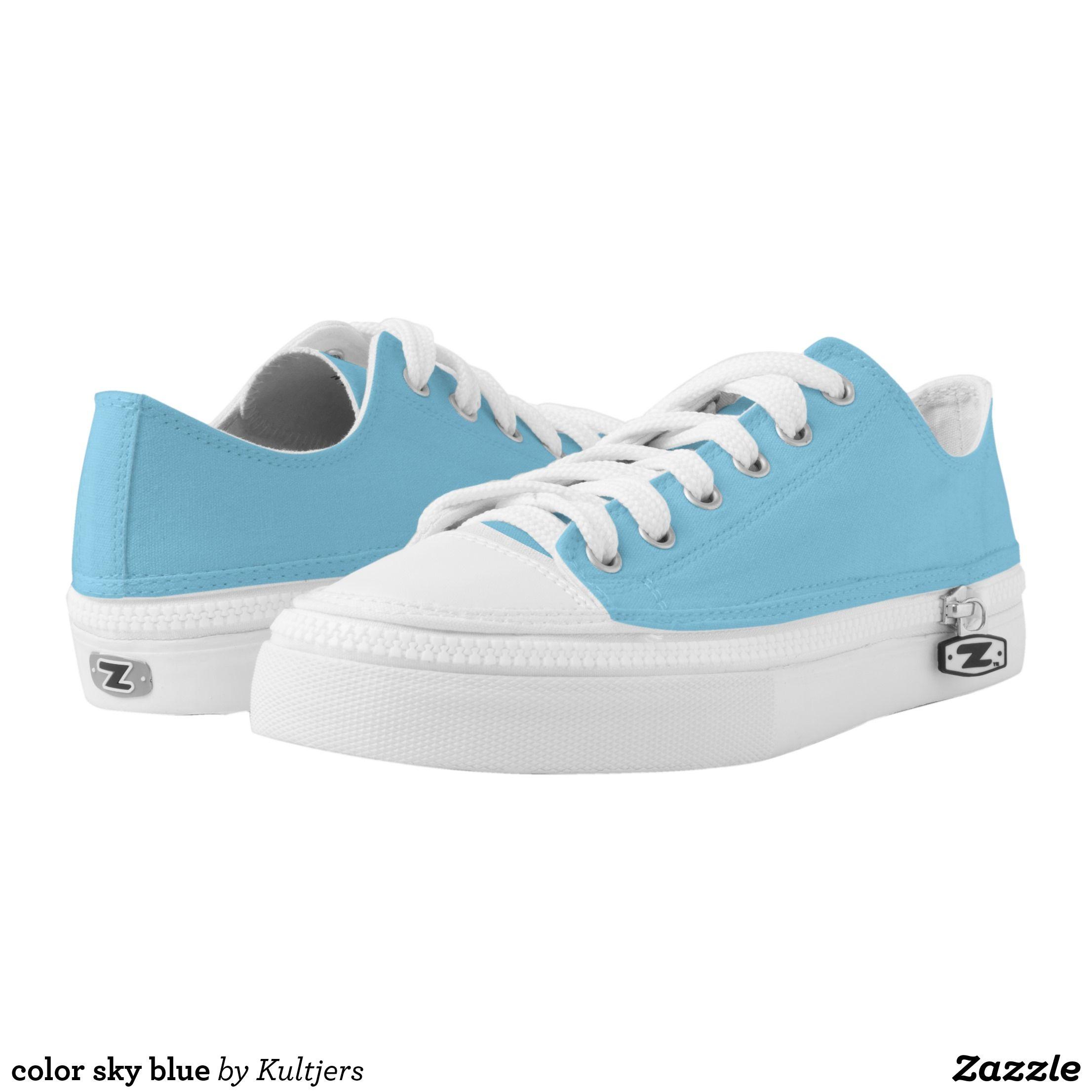color sky blue Low-Top sneakers