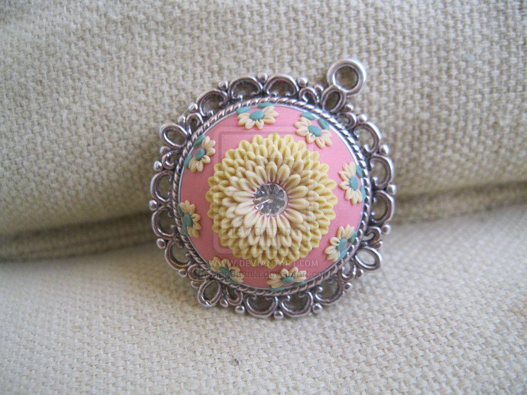 Polymer clay jewelry - Lena Handmade Jewelry Pendate