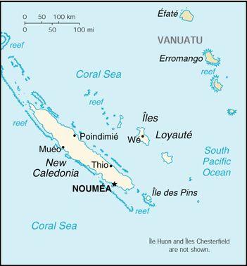 Map Of New Caledonia En 2020 Caledonie Nouvelle Caledonie Et
