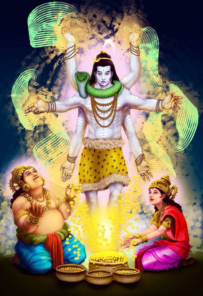 Image result for kuber with shiva