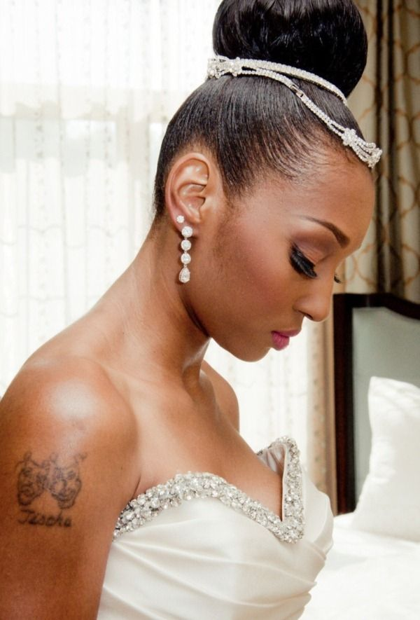 Wedding Hair The High Bun Bridal Hair Makeup Wedding