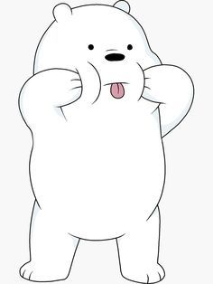 We Bare Bears - Ice Bear Sticker