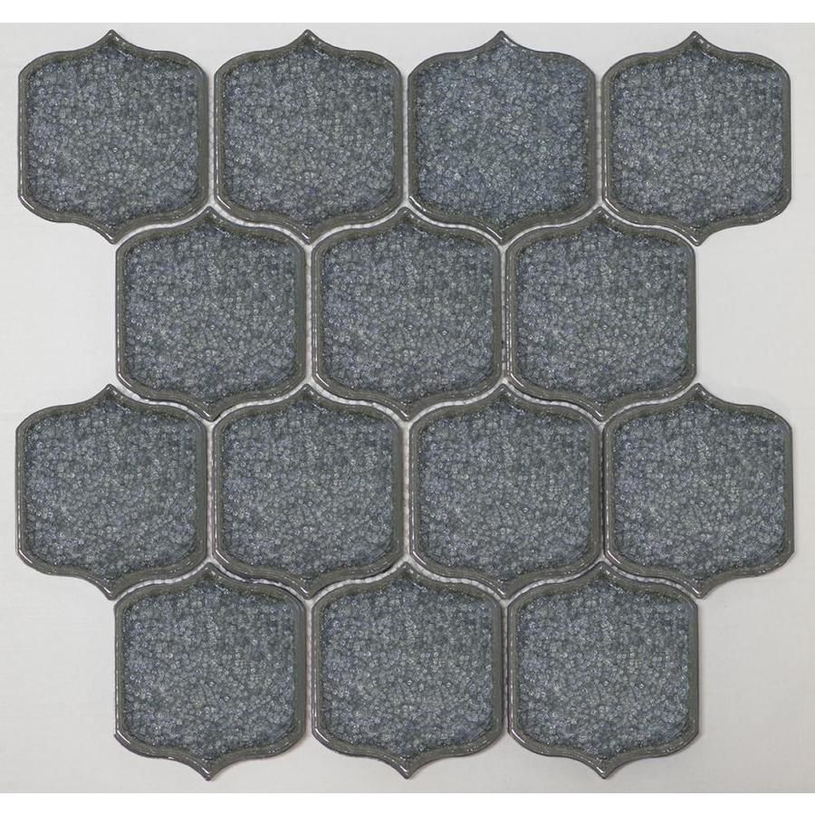 Anatolia Tile Hudson Brilliant White 12 In X 12 In Glossy Porcelain Lantern Mosaic Wall Tile