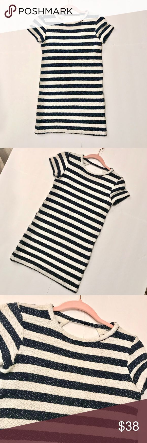 596270f7 Zara | Striped Knit Mini Dress This Zara Trafaluc dress is stunning and  comfortable. Features