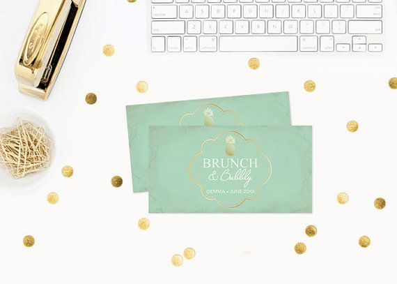 DIY Champagne Label Editable MS Word Template Mint Green Microsoft - ms word invitation templates