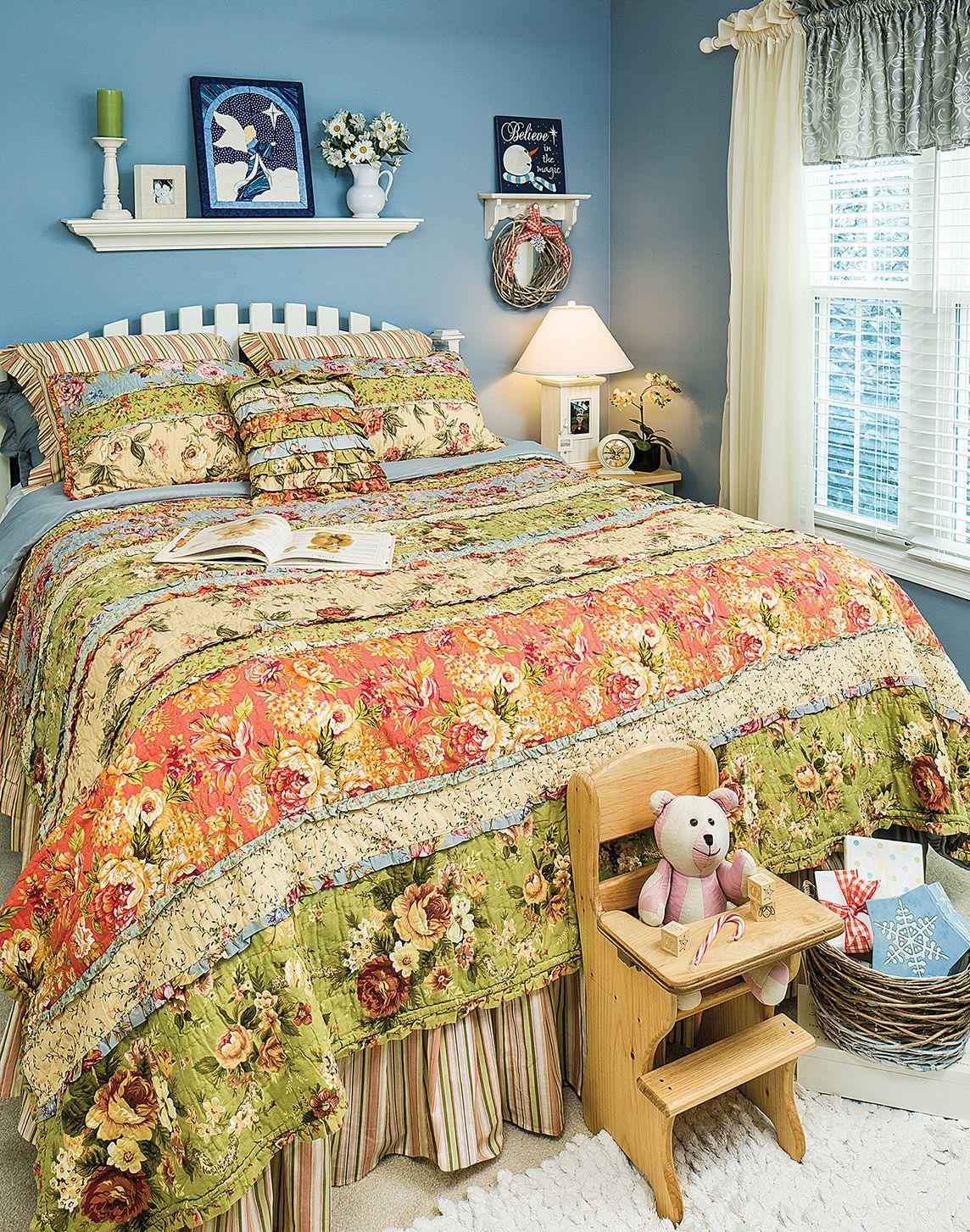 Garden Dream Ruffled Rag Quilt Home Decor Cozy House Home