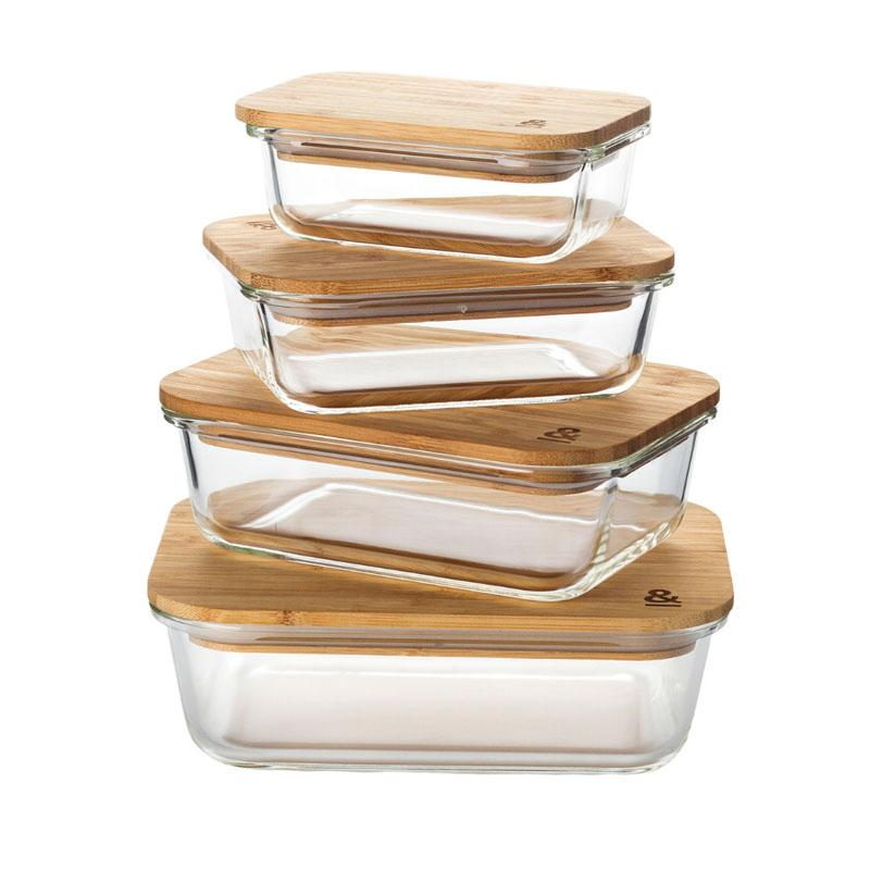 Eco Stow Set Food Storage Containers Glass Containers Natural