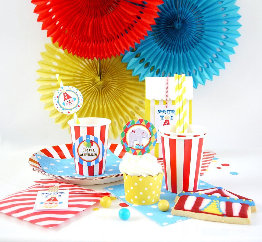 kit anniversaire cirque