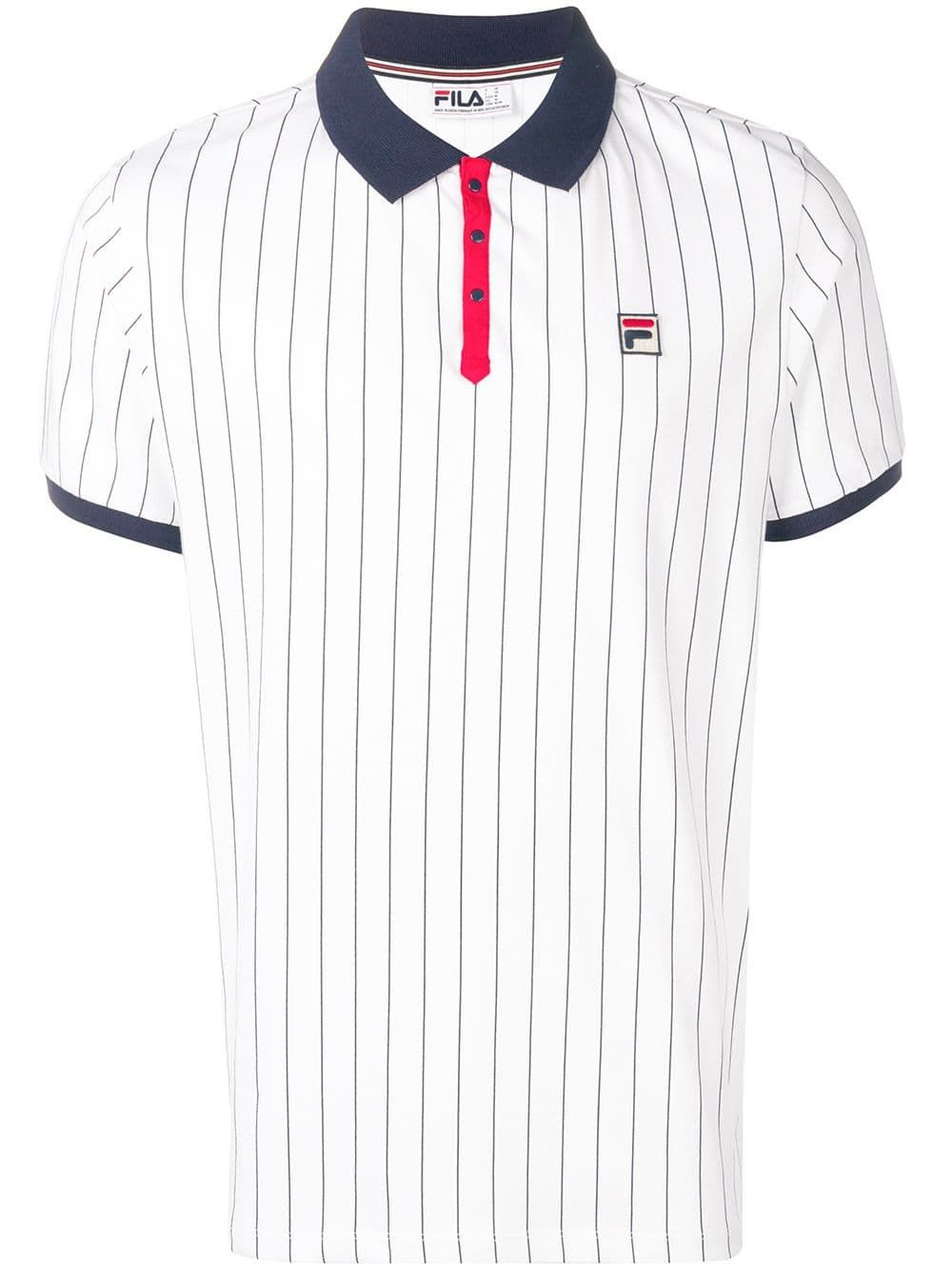 b6e3c674c5 FILA FILA BB1 STRIPED POLO SHIRT - WHITE. #fila #cloth | Fila in ...