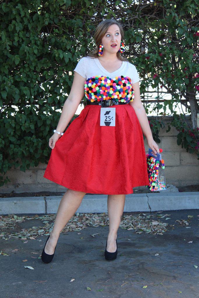 DIY Gumball Machine Costume Gumball costume, Office