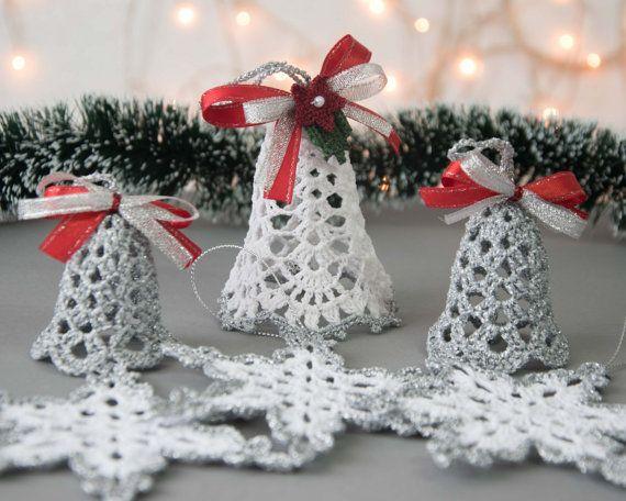 Insieme di natale splendido di 6 ornamenti alluncinetto for Ornamenti casa