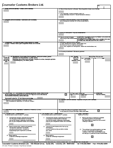 Canada Customs Invoice Sample Templates Pinterest Invoice - Canadian customs invoice template