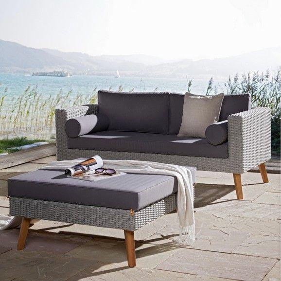 Outdoorsitzbank Vittorio Dunkelgrau Hellgrau Modern Holz Kunststoff 82 40 82cm Momax Modern Living Outdoor Mobel Lounge Sofa