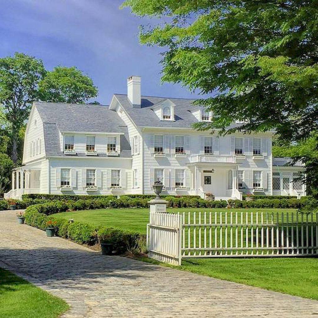 50 Stunning Farmhouse Exterior Design Ideas Nevaeh News Colonial House Exteriors Farmhouse Exterior Colonial Exterior