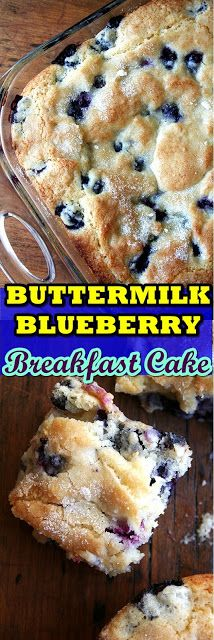Buttermilk Blueberry Breakfast Cake I swear buttermilk is magic. It appears to turn everything into gold: super-moist super-delicious gold.  This morning I awakened wanting a simple summery cake-like-but-not-dessert-like breakfast treat. One of Bens chums had crashed correct correct here final night and I idea it purely suitable to deal with him to a genuine breakfast. In different words I was yearning sugar and carbs. The reality is Ive been yearning sugar and carbs and a cake like this for mon #buttermilkblueberrybreakfastcake