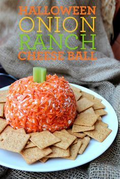Halloween Onion Ranch Cheese Ball - Popsicle Blog #halloweenappetizerideas