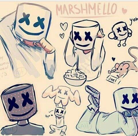 Marshmello Dj Art Cute Drawings Cool Drawings
