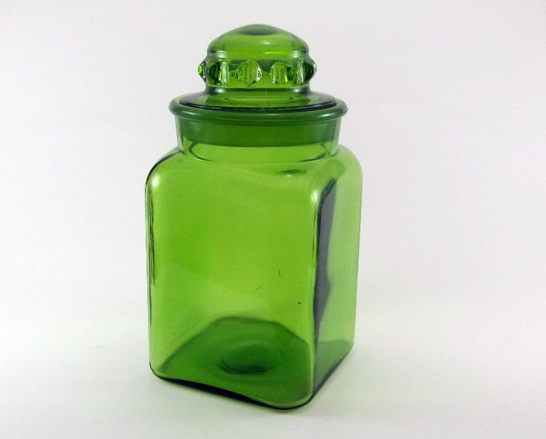 vintage glass jar green glass canister lime green modern lime green kitchen canisters quicua com