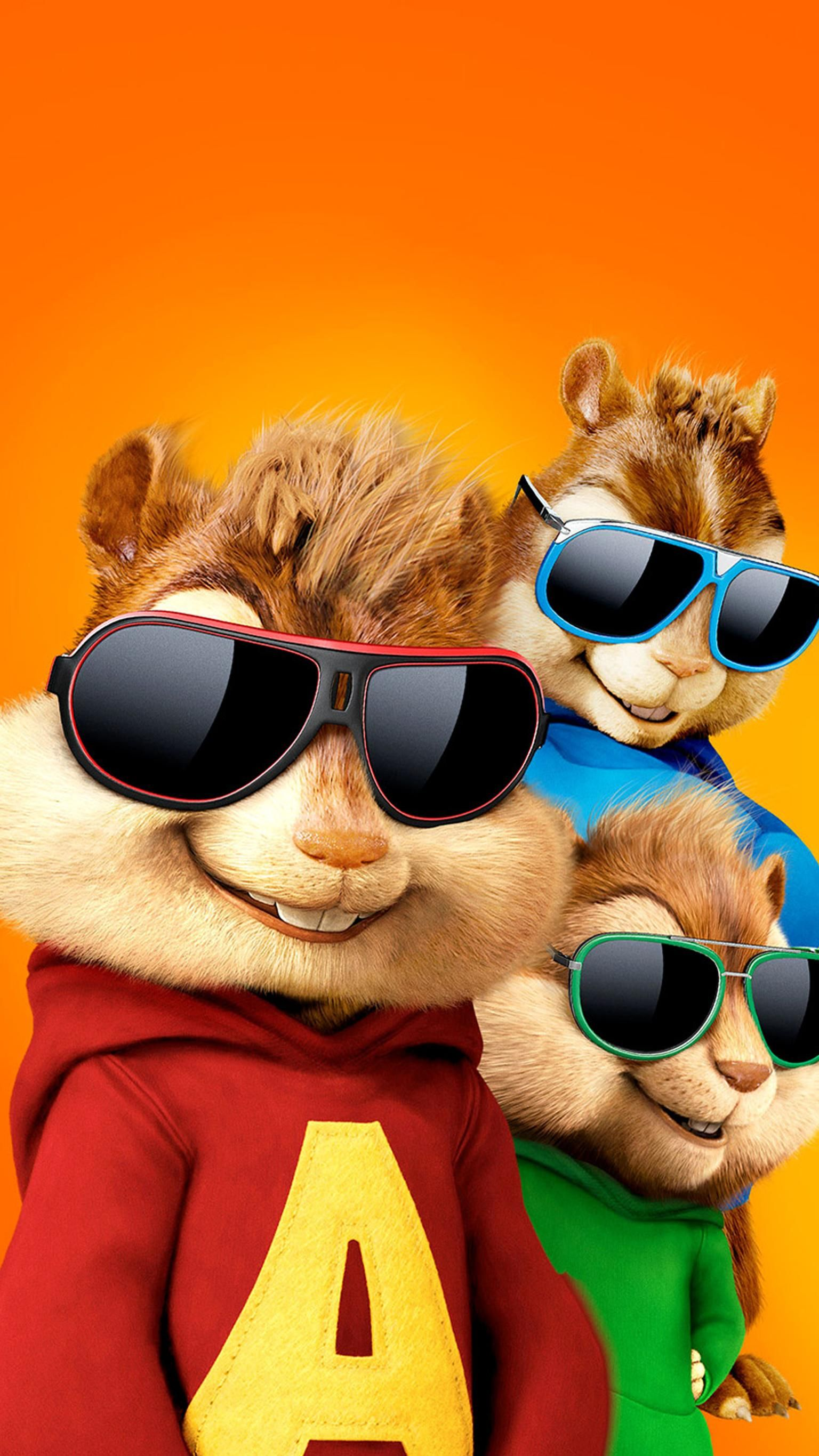 Alvin And The Chipmunks The Road Chip 2015 Phone Wallpaper In