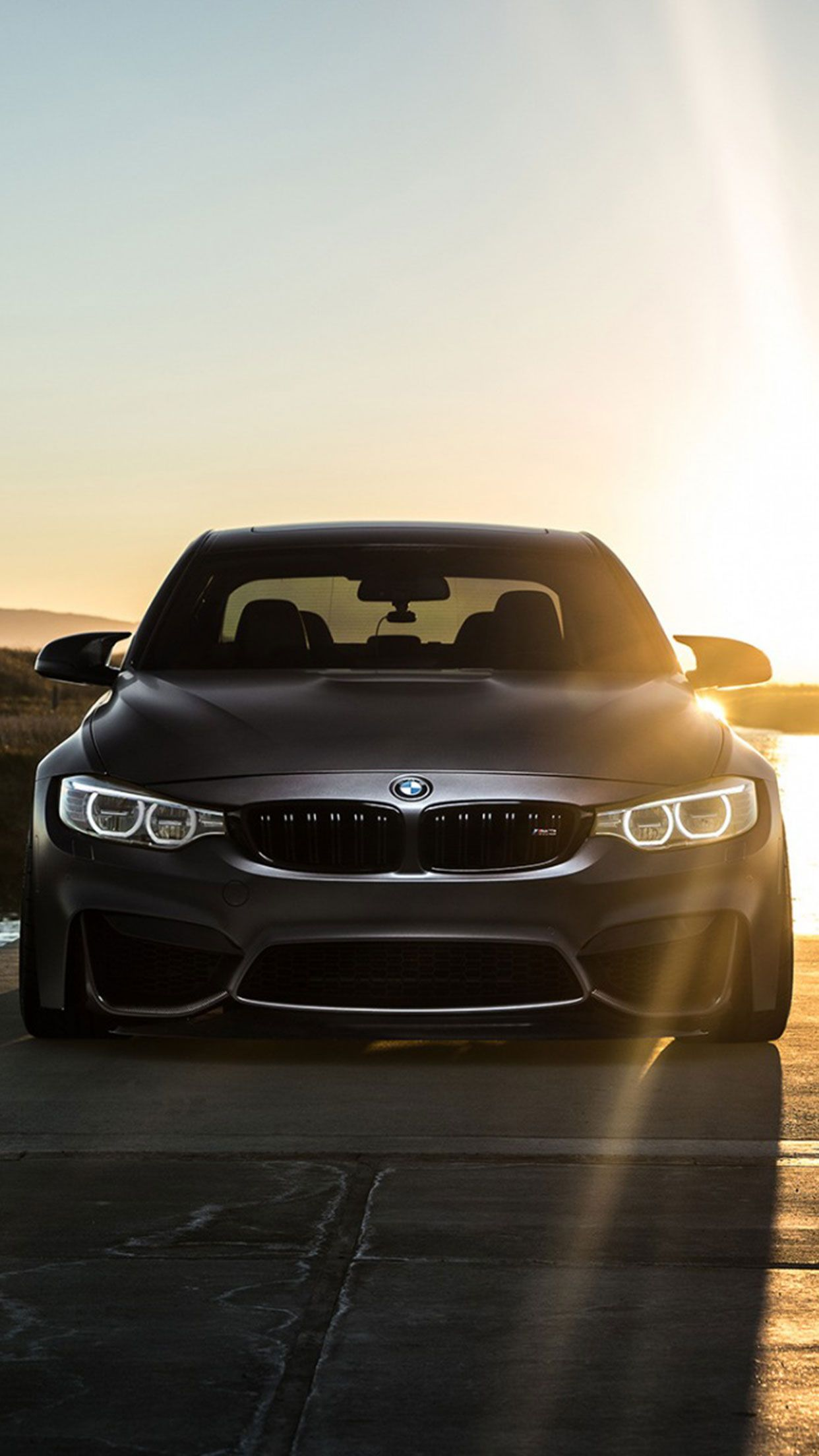 Grey BMW car wallpaper for Iphone and Android BMW Car