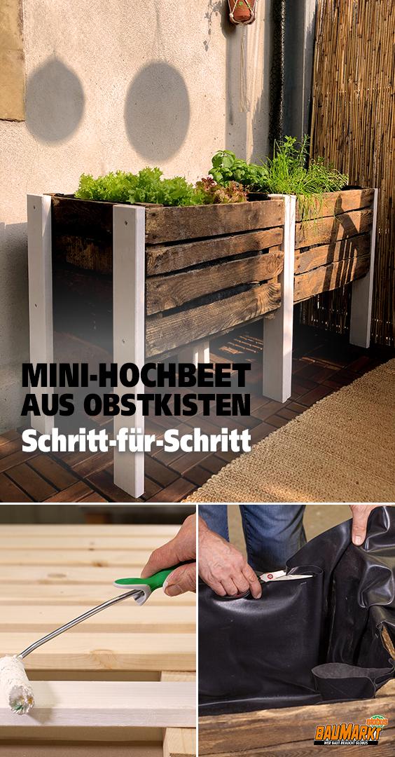 Mini Hochbeet aus Holzkisten selber bauen