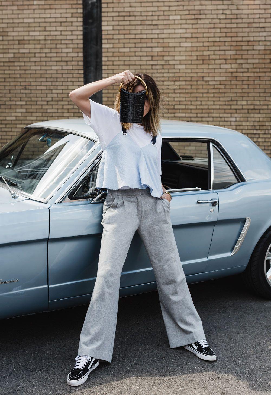 Stella McCartney, Stella McCartney Bag, Alter Croc Bag, Farfetch, Mustang, Car Editorial, Outfit, Amanda Shadforth, Oracle Fox
