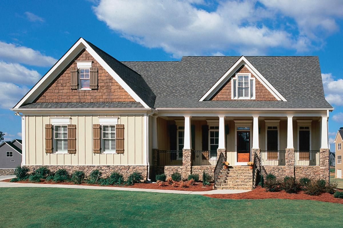 House Plan 8594 00117 Country Plan 2 182 Square Feet 3 4 Bedrooms 2 5 Bathrooms In 2021 Craftsman House Plans Country Style House Plans Craftsman House