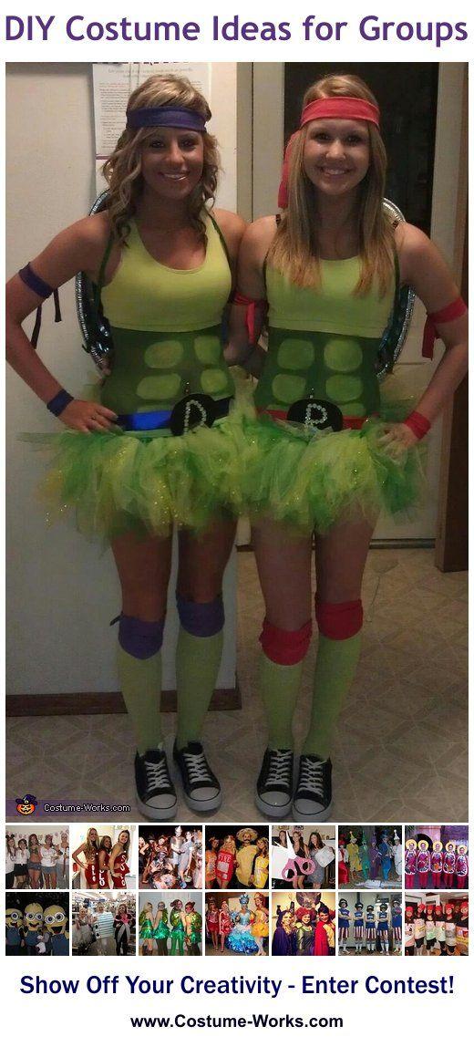 Homemade costumes for groups carnavales disfrases y halloween ninja turtles diy halloween costume ideas solutioingenieria Image collections