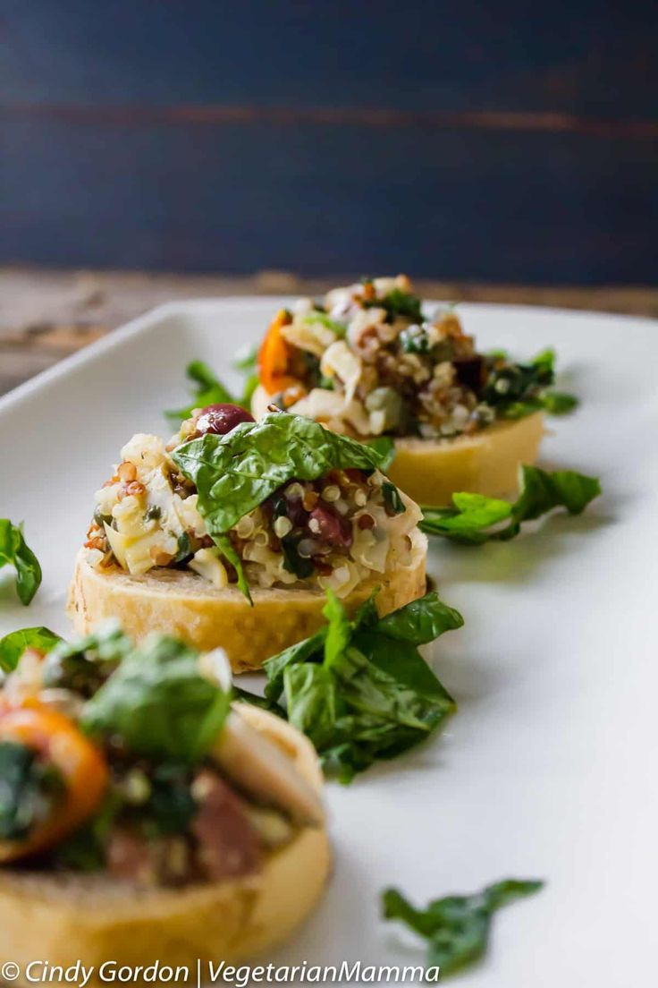 Mediterranean Bruschetta Mediterranean Bruschetta is a flavorful starter that your entire family will love! This recipe is easy to put together with deep and addictive flavors.