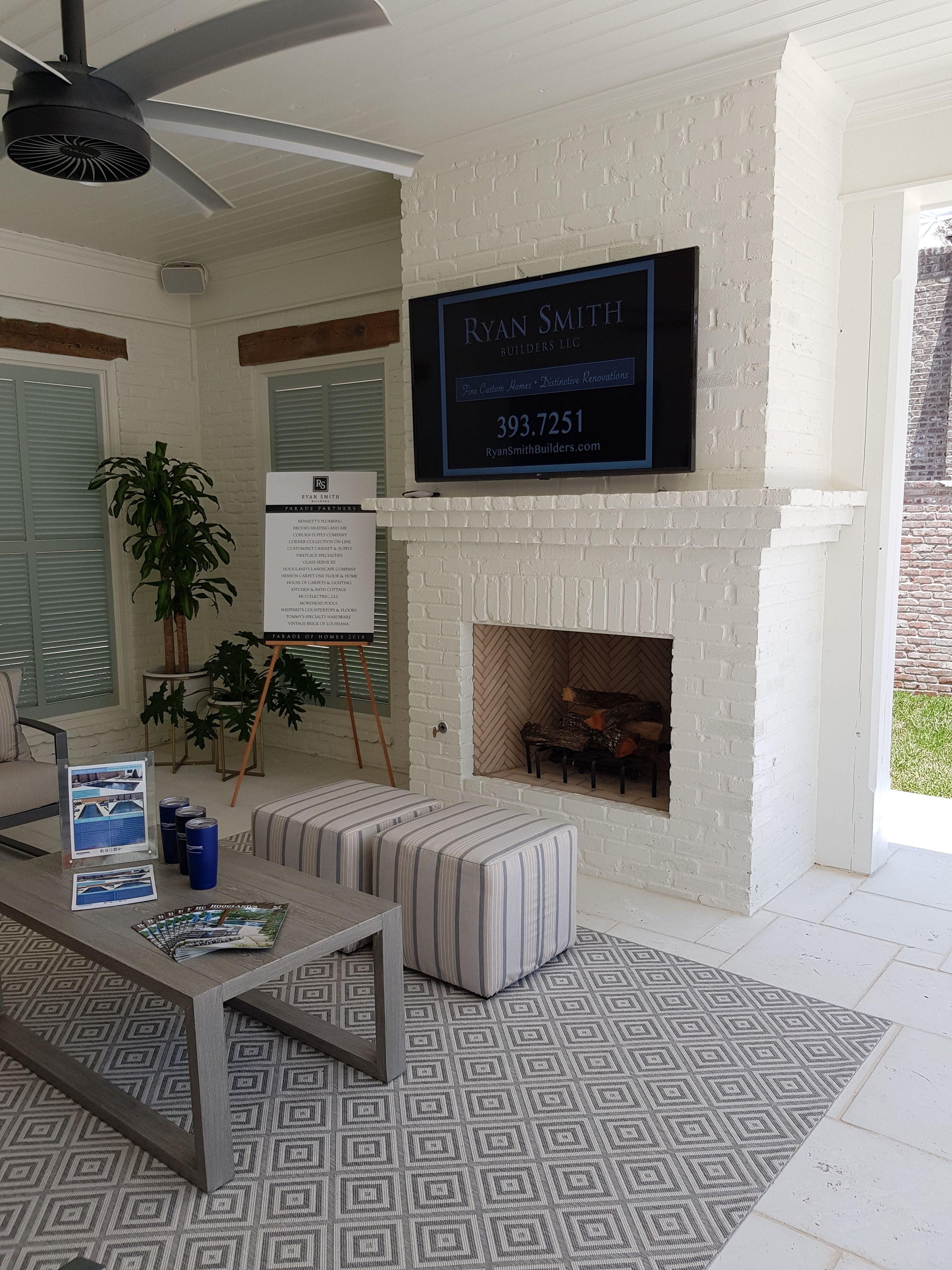 Masonry Fireplace Parade Of Homes 2018 Shreveport Provenance  Builder