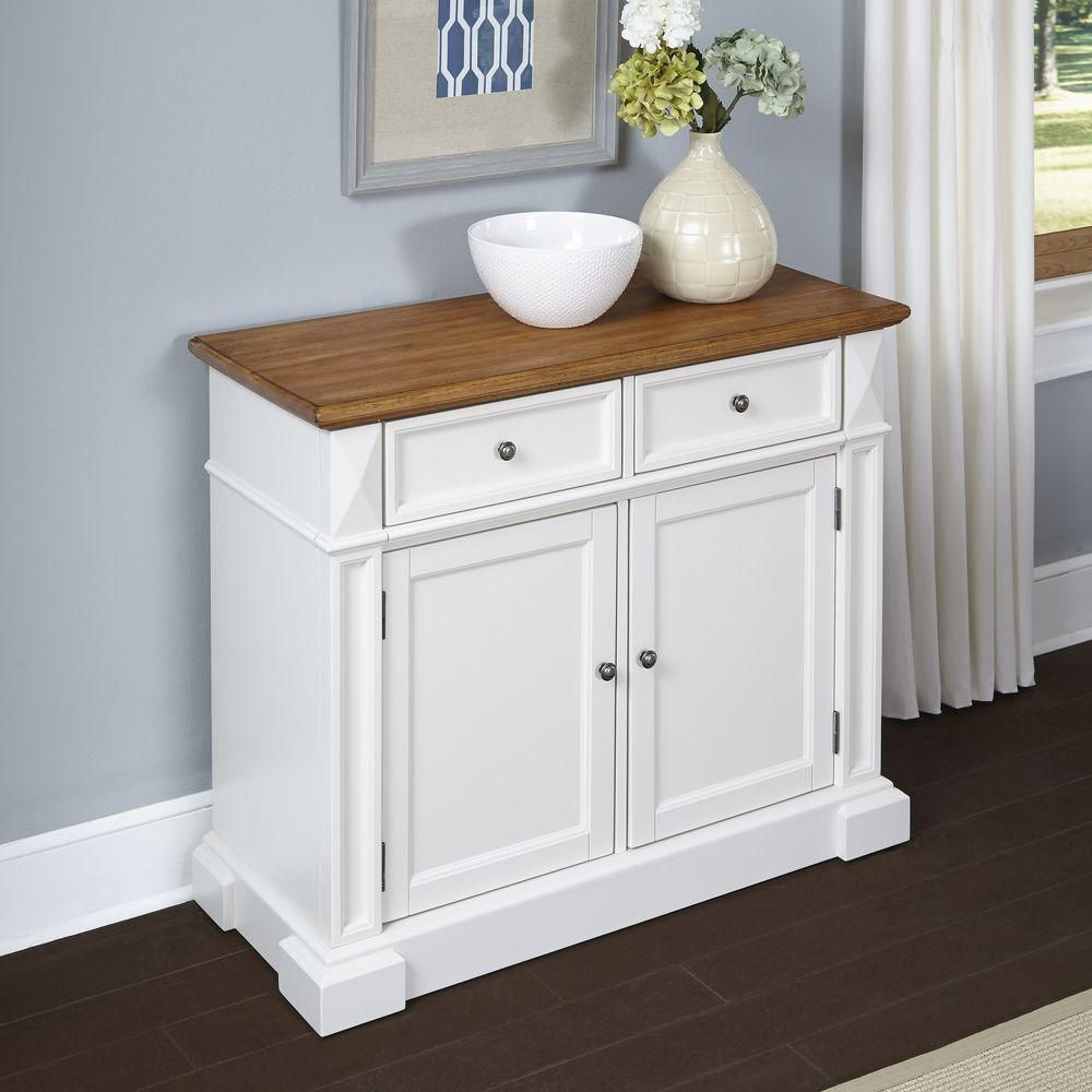 Americana White and Oak Buffet, White/Brown
