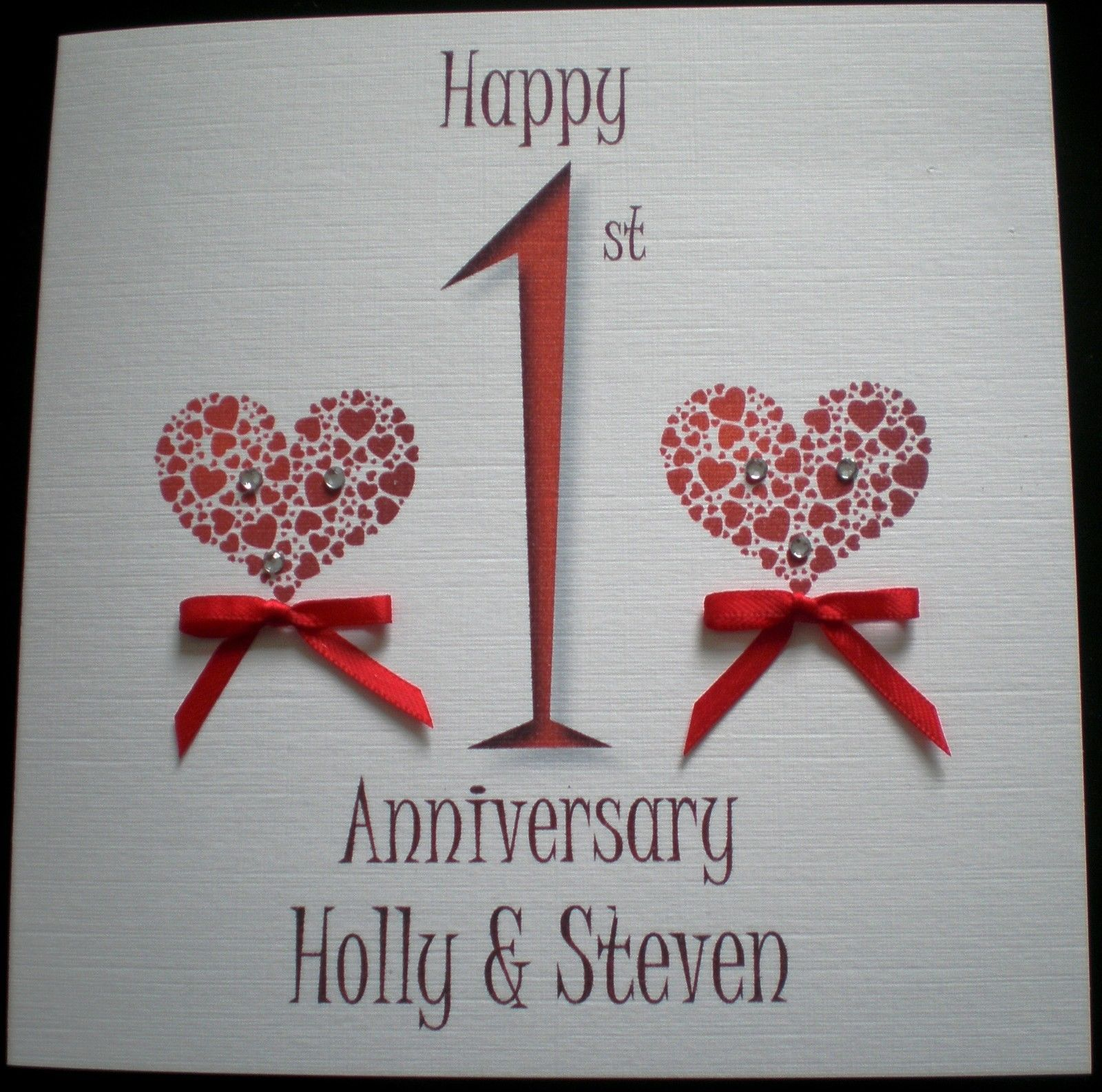 Details about HAPPY WEDDING ANNIVERSARY PERSONALISED CARD