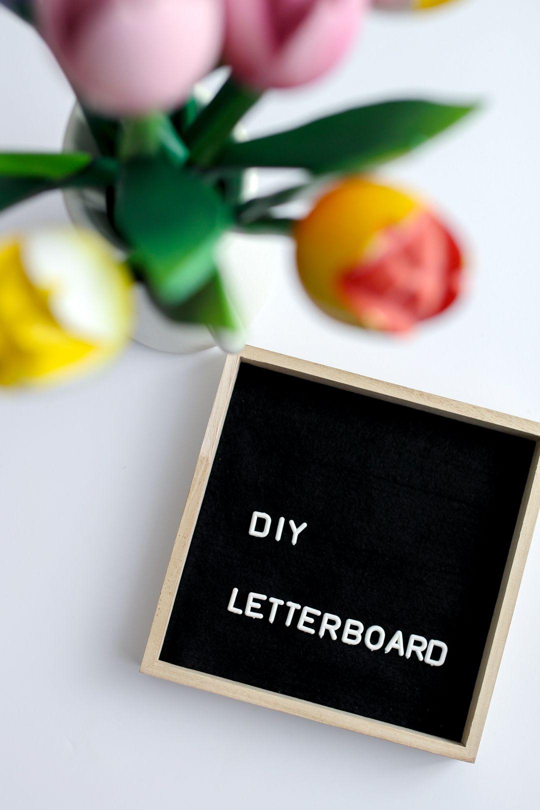quadratische sprchetafel letter board diy