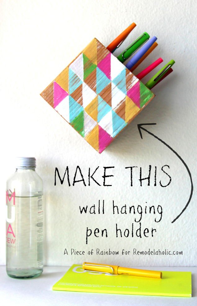 Make A Modern Wall Hanging Pen Holder With Images