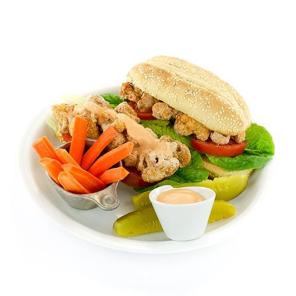 Spicy (or Not) Cauliflower Po' Boy from the Easy Vegan Cookbook by Kathy Hester