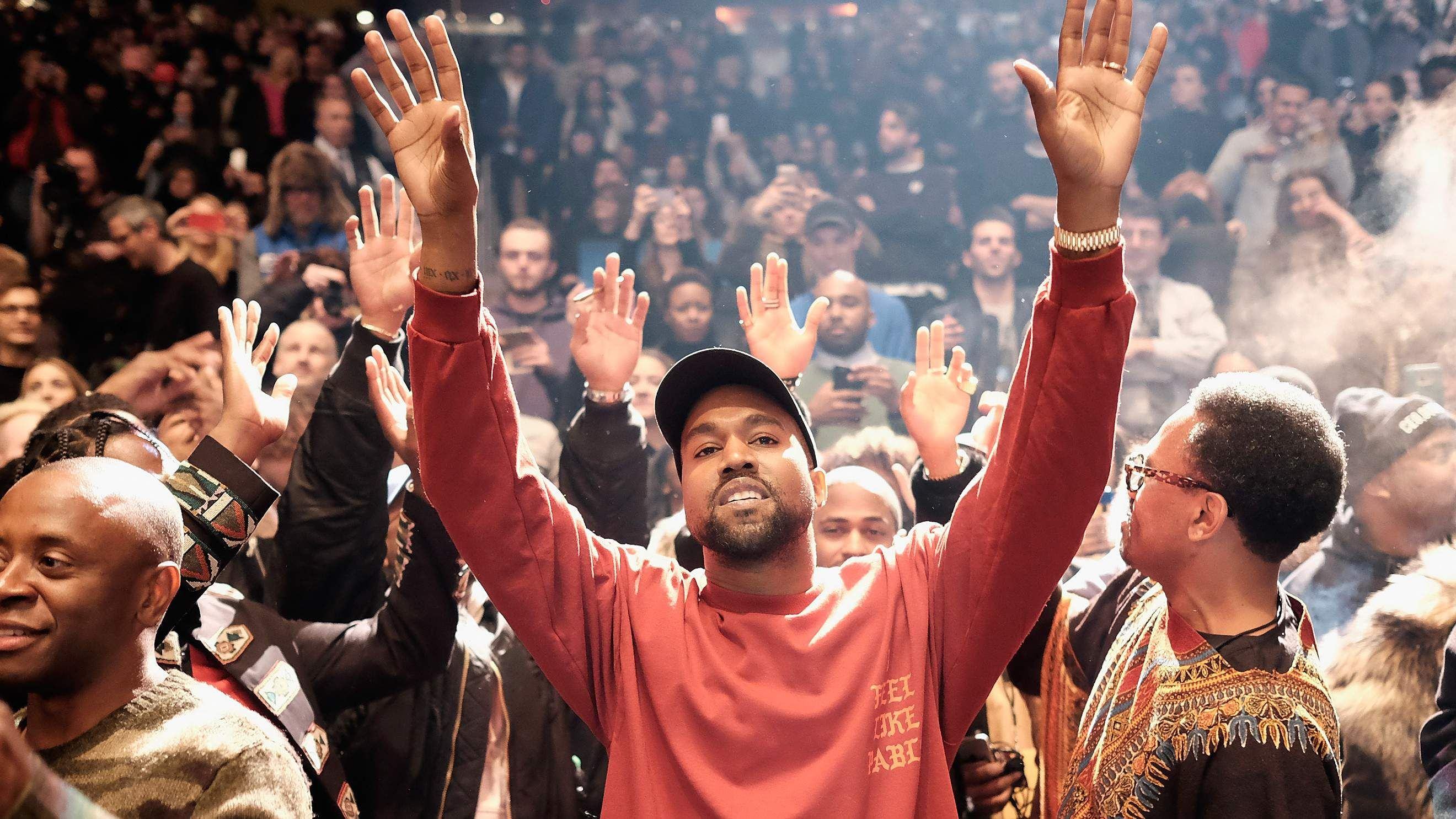 Kanye West Plays House Music During Sunday Service At Mega Church Watch Last Weekendkanye West Took Over Joel Ostee Kanye West Music Album Cover House Music