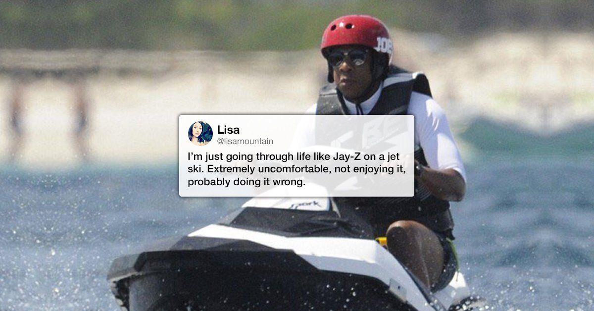 Jay Z On A Jet Ski Is The Hilarious New Meme Making Waves This Summer 30 Photos Jay Z Jay Z Meme Jet Ski