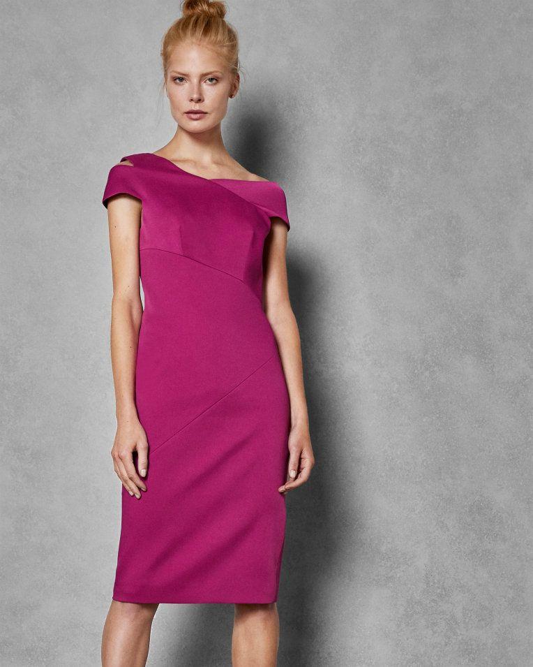 Aspyn Midi Dress Bodycon Dresses Bright Pink Dresses
